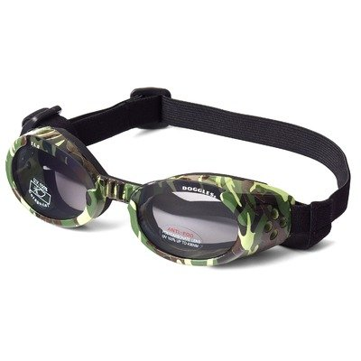 Dog Goggle Sunglasses in Camo and Smoke Lenses - Green, Small