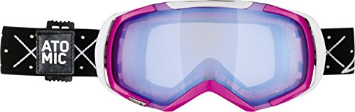 ATOMIC, Maschera da sci Revel, Rosa (Pink/White/Light Blue), Taglia Unica