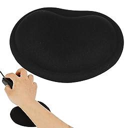 Uxcell Desktop Laptop Wavy Mouse Gel Pad Wrist Rest Support, Black