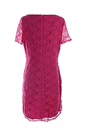Lauren Ralph Lauren Floral Lace Dress Women's Sheath Pink 14