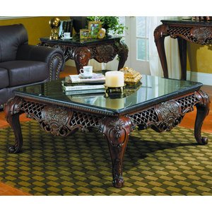 Homelegance Gladstone Square Cocktail Table with Marble Top