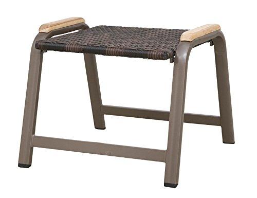 Siena Garden 120183 Hocker Aros Aluminium-Gestell bronze Gardino®-Geflecht maron Applikationen Teak FSC® 100% bestellen