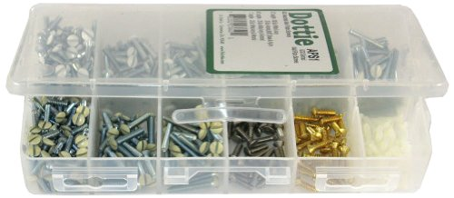 L.H. Dottie Aps2 Wall Plate Screw Kit, No.6-32 Tpi By 5/16-Inch To 1-Inch Length, Ivory, White And Almond