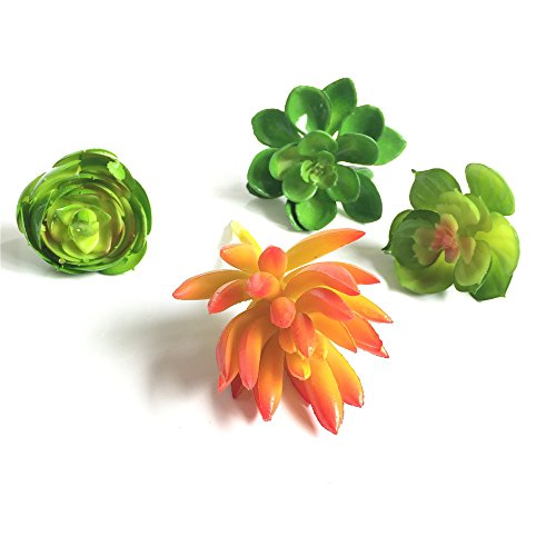 Lucky Six 4pcs Mini Artificial Succulent Plants ,Picks For Wedding ,Party,Home Decoration.
