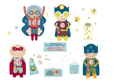 Monster Patrol Team Monster Control Experts Wall Stickers