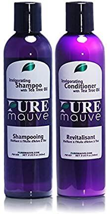 buy Shampoo And Conditioner Set Pure Mauve - Sulfate Free Hair Care For Men And Women With Tea Tree Oil And Vitamin E, Ideal For Curly, Damaged Or Color Treated Hair. Buy Now And Dare To Shine!