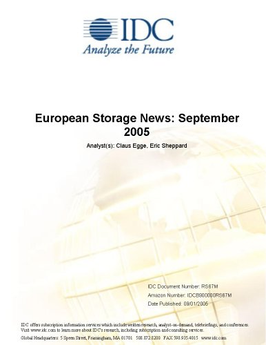 European Storage News: September 2005 Claus Egge and Eric Sheppard