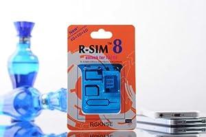 RSIM 8 Super Smart unlock sim card IOS 5.0~6.1.4) IOS 6.1.4/6.1.3/6.1.2/6.1/6.0X , Fully automatic unlock,Support all kind 3G 4G Simcard
