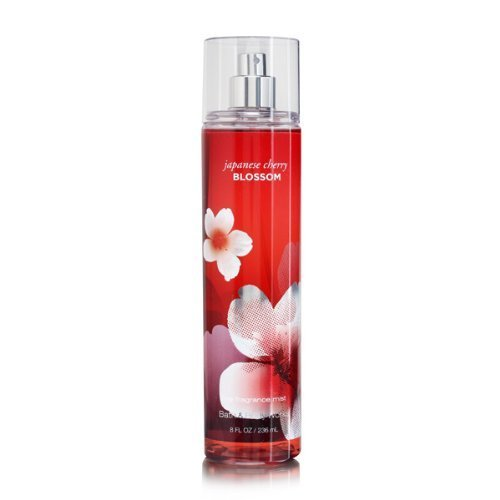 Bath & Body Works Signature Collection Fragrance Mist 8 Fl Oz with Free Hand Sanitizer (Japanese Cherry Blossom) Blossom Bath Collection