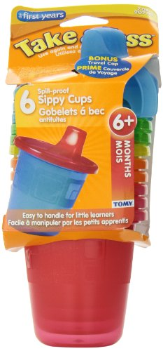 The First Years Take & Toss Sippy Cups With Travel Cap - 6-Pack 7 Oz. front-1068882