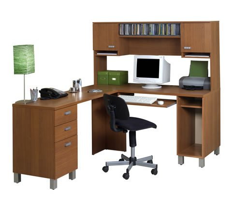 Picture of Comfortable Ambiance Corner Computer Workstation, 59.5