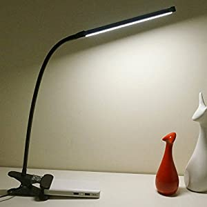 LEPOWER Led Clip on Light / Gooseneck Lamp for Night Reading 6W Light Color Temperature Chanageable by Lepower