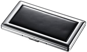 Visol Slate Black Cigarette Case - Holds 9 120 size cigarettes