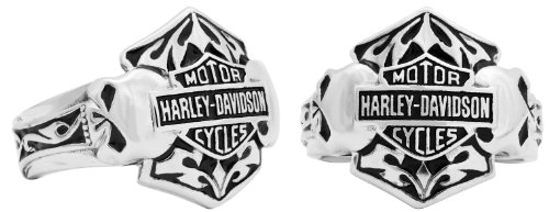 Harley-Davidson® MOD® H-D Steel Double Skull Ring HSR0002 (14)
