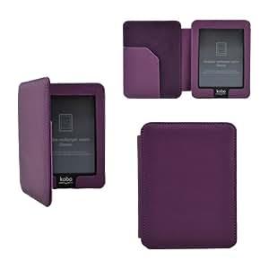 Premium étui en cuir housse coque fermeture magnétique pour KOBO eReader Mini Edition - Couleur Violet