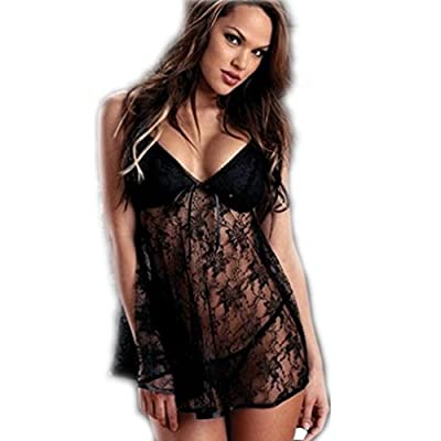 High-Quality Sexy Lace Lingerie Nightwear sets Underwear Women Babydoll Erotic Sleepwear plus size for Ladies/Women (Size Available: XL, XXL)