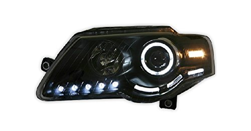 Auptech Volkswagen Magotan 2005-2010 Headlight Assembly Angel Eyes Halogen Hid Led Projector Headlight Lamp