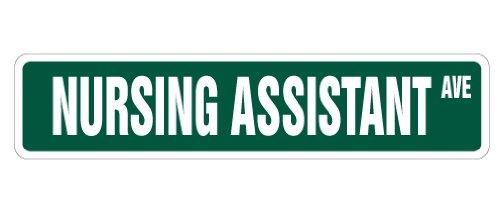 NURSING-ASSISTANT-Street-Sign-nurses-nurse-aide-gift-novelty-road