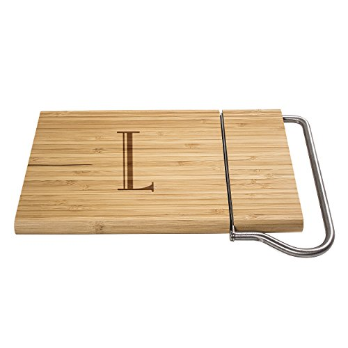 Cathy's Concepts Personalized Bamboo Cheese Slicer, Letter L