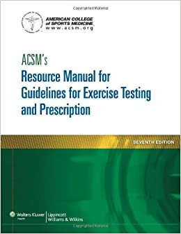 how to cite acsm guidelines for exercise testing