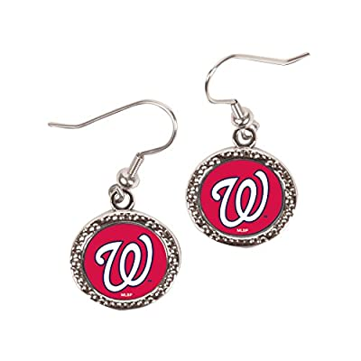 MLB Washington Nationals Round Earrings, Large, Multi