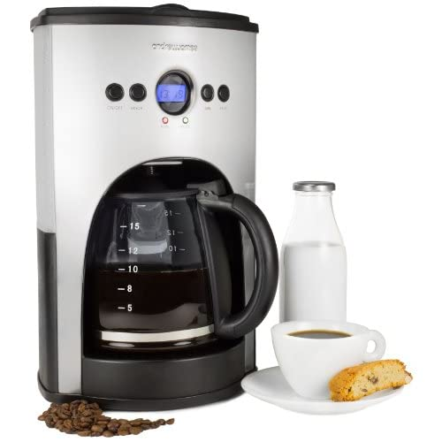 Andrew James 1100 Watt Digital Filter Coffee Maker With Fully Programmable Function And Reusable Mesh Filter-...