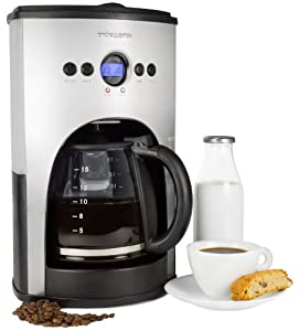 Andrew James 1100 Watt Digital Filter Coffee Maker With Fully Programmable Function And Reusable Mesh Filter- 15 Cup Capacity