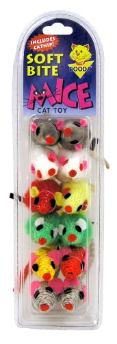 picture Petmate Soft Bite Cat Toy, 12-Pack, Assorted Mice