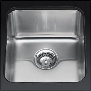 "Bundle-94 Undertone Medium Squared Undercounter Kitchen Sink, 9.5"" Deep (2 Pieces) Finish: Brushed Bronze"