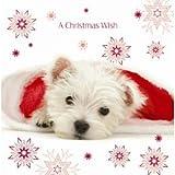 Santa's Helper Westie Luxury Christmas Cards Pack