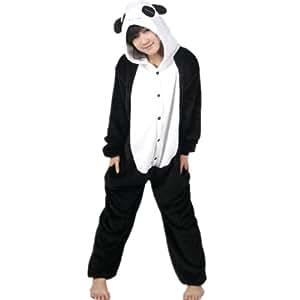 Autek Animaux Onesie unisexe Costume de déguisement Hoodies Pyjamas dorment usage Panda (PJ-Panda) (M)