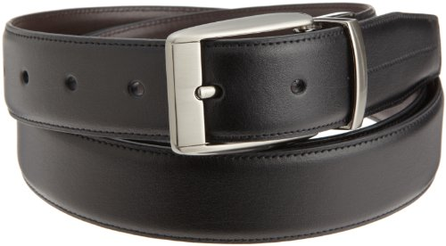 Perry Ellis Mens Pauly Big And Tall Belt, Black, 48 SP