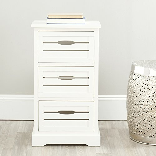 Safavieh American Homes Collection Samara 3-Drawer Cabinet, Distressed Cream (Cabinet Cream compare prices)