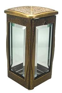 Grablicht aus Bronze Rieth , Höhe 22 cm  BaumarktÜberprüfung und weitere Informationen