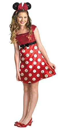 Disguise Girls Disney Mickey Mouse Clubhouse Red Minnie Mouse Child / Tween Costume