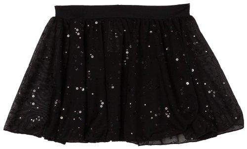 Capezio Big Girls' Pull-On Sequined Skirt, Black, Medium (8-10) front-273910