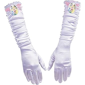 Disguise Disney Princess White Gloves Licensed One Size Child