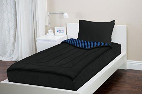 Zipit Bedding Set Queen Black Checkers Zip Up Your