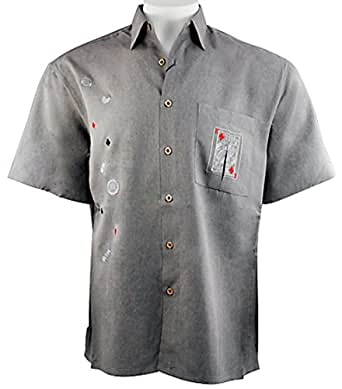 Bamboo cay king of diamonds embroidered tropical style for Bamboo button down shirts