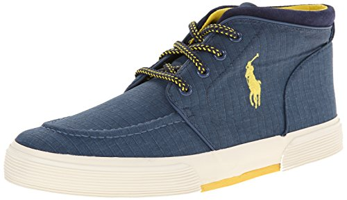 Polo Ralph Lauren Men's Federico Rubber Fashion Sneaker, Newport Navy, 13 D US