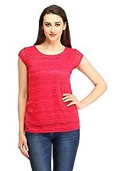 Cottinfab Women's Top (DSS9088B-XX-Large_Pink_XX-Large)