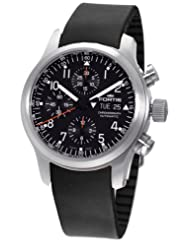 Fortis Men's 635.10.11 K B-42 Pilot Professional Automatic Chronograph Date Black Rubber Watch