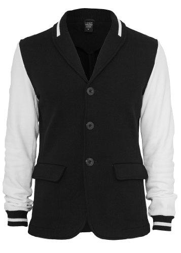 Urban Classics -  Giacca da abito  - Uomo nero / bianco 48