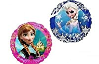 Disney Frozen Party Supplies Double Sided Sisters Anna and Elsa Mini Foil Balloon (Pack of 3) from Burton & Burton