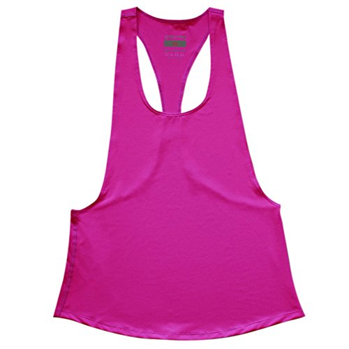 Highdas Canotte Quick Dry Donne allentato Gym Fitness senza maniche Vest Canotta corsa T-shirt da allenamento Rose S