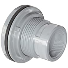 "Spears 8171-C Series CPVC Bulkhead Tank Adapter, 4"" Socket x NPT Female"