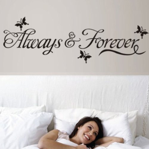 Alway Forever Butterfly Removable Art Vinyl Wall Sticker Paper Mural Home Decor By FamilyMall