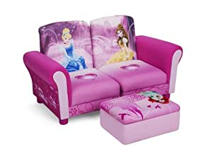 Delta Children's  Products Disney Princess Upholstered Sectional Set, 3-Piece
