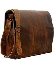 Pranjals House Real Leather Full Flap Crossbody Satchel Messenger Bag