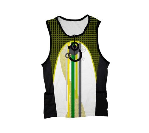 Buy Low Price Green Sheme Triathlon Top for Women (01-TT-086-PW)